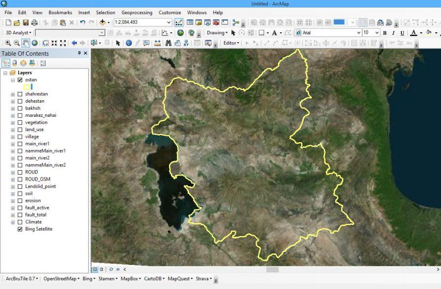 شیپ فایل اطلاعات مکانی استان آذربایجان شرقی